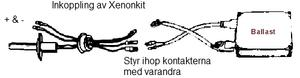 Inkoppling av standard Xenonkit