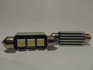 Spollampa 36mm 3st 5050SMD with hot - sink housing